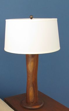 Custom Made Solid Wood Turned Lamp