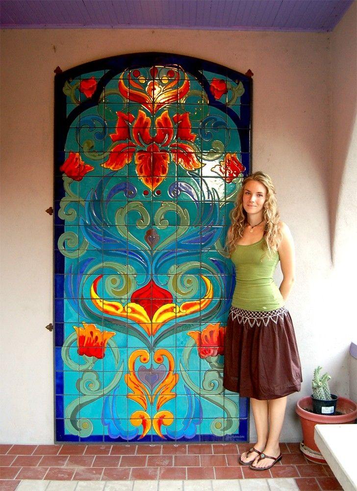 Custom Made Hand Glazed Tile Mural