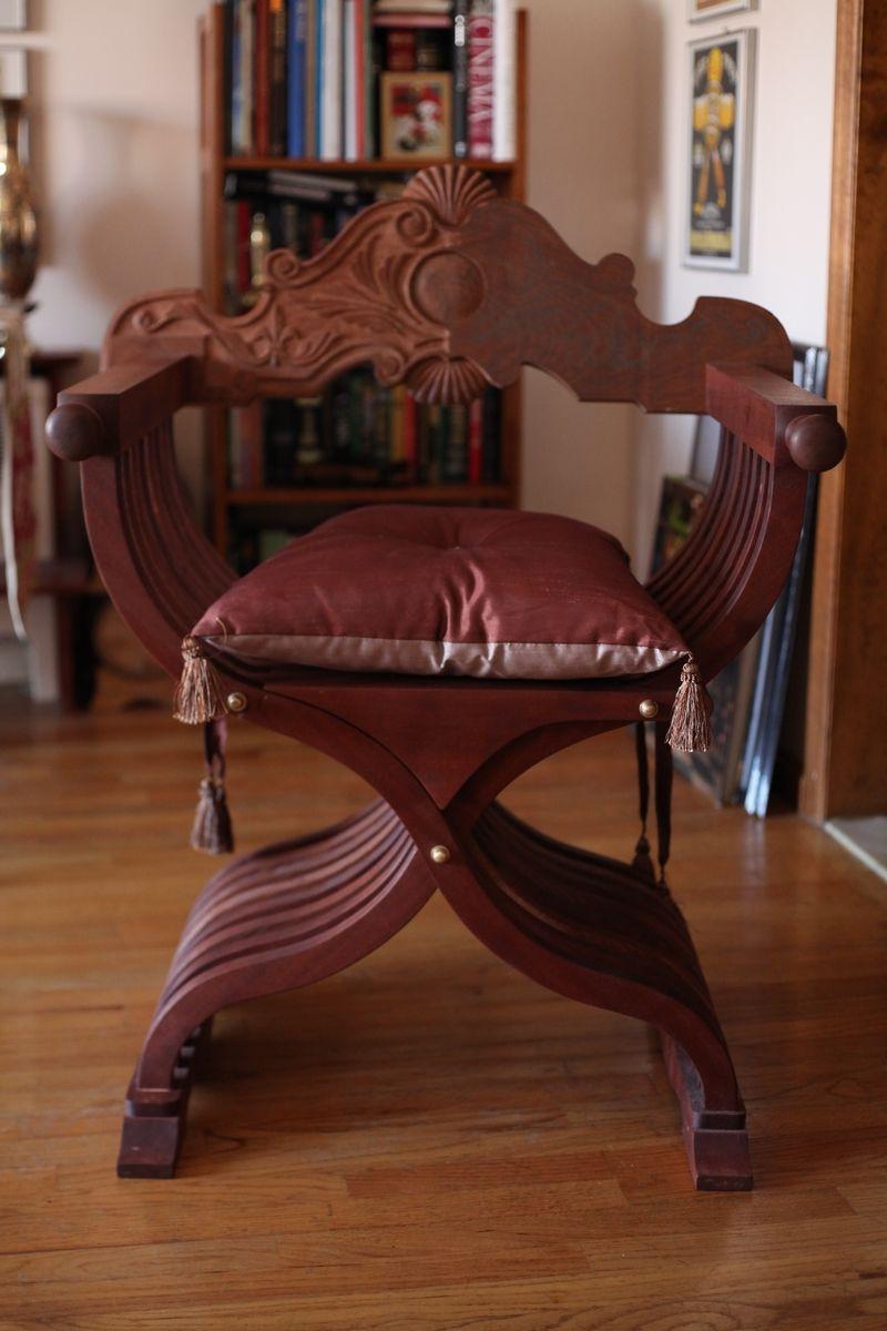 Hand Crafted Savonarola Chair Aka X Scissor Dante By Hazeltree Designs Custommade Com