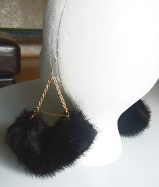 Custom Made Mink Swing Earrings