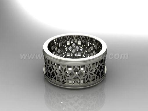 Custom Made Cut Out Ring With 8 Point Stars