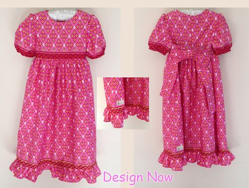 Custom Made Cute Childrens Dress In Ankara Fabric/Handmade Kids Dress