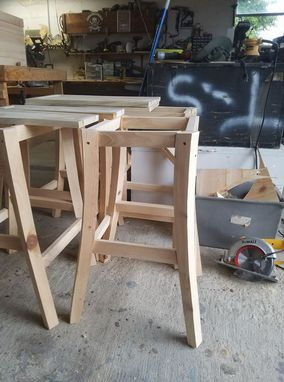Custom Made Cypress Barstools