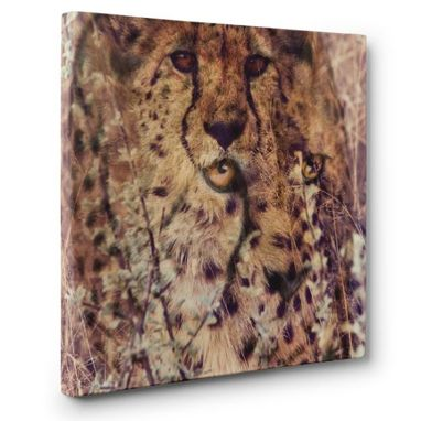 Custom Made Cheetah Canvas Wall Art
