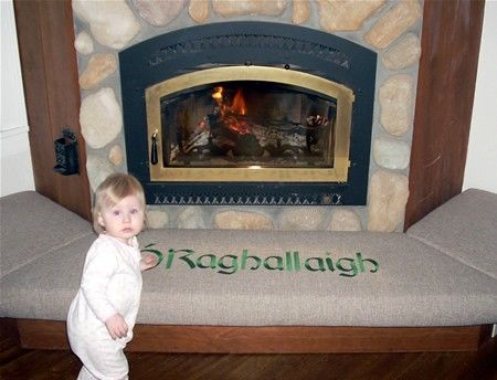Custom Made Fireplace Hearth Safety Seat