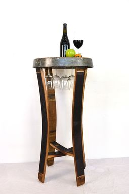 Custom Made Napa - Serenoa - Wine Stave Tasting Or Bistro Table