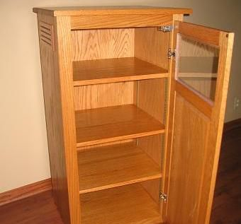 Custom Made Stereo Cabinet By Usingers Custom Woodworking