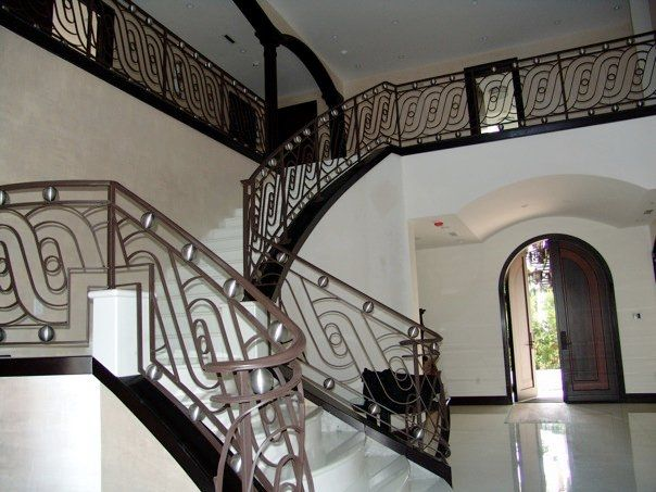 Hand Made Contemporary Stair Railings By Deco Design