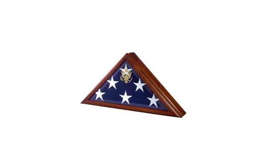 Custom Made Memorial Flag Case - Burial Flag Box