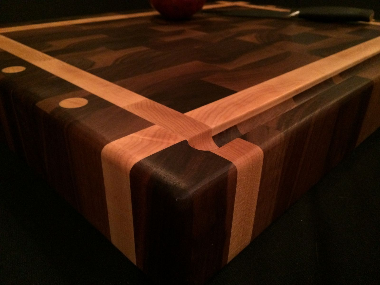 Buy A Hand Made Black Walnut And Rock Maple End Grain