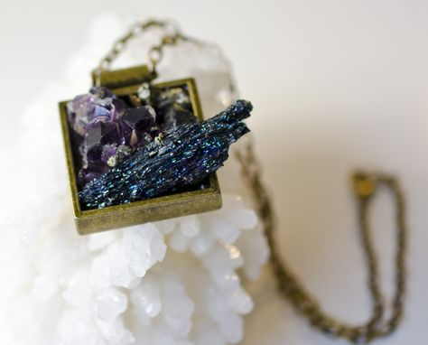 Custom Made Super Minerals Pendant- Mix/Brass
