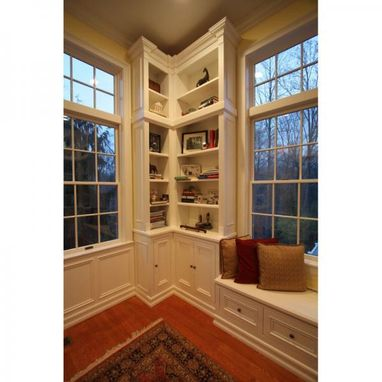 Custom Made Library Room With Maple Cabinetry