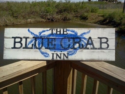 Custom Made Blue Crab Inn Sign