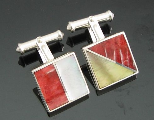 Custom Made Nautical Flag Alphabet Cufflinks