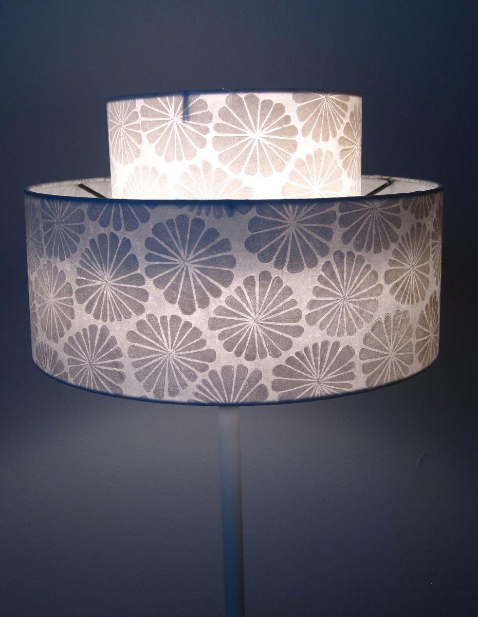Custom Made Lamp Shade: Custom Made Hand Printed Lamp Shade,Lighting