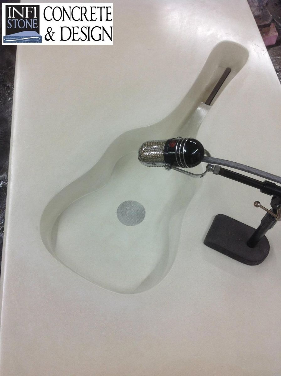 Hand Made Concrete Guitar Shaped Sink By Infistone