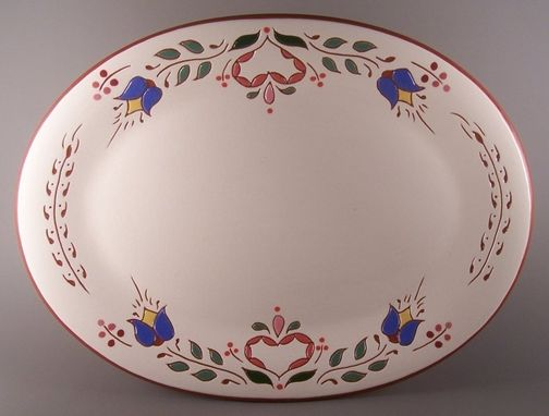 Custom Made Sgraffito Redware Pennsylvania Dutch Platter