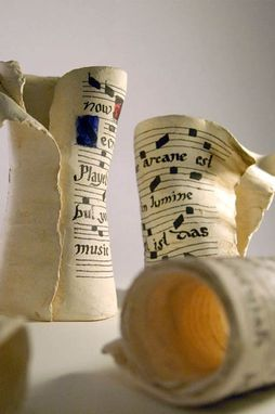 Custom Made Gregorian Chant Scrolls - Vases
