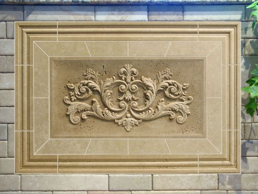 Custom Made Classic Relief Travertine Mosaic Tile