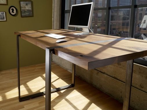 Buy A Handmade Walnut And Steel Standing Work Desk Made