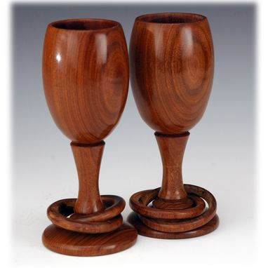 Custom Made Toasting Glasses In Bocote (Wedding And 5th Year Anniversary)