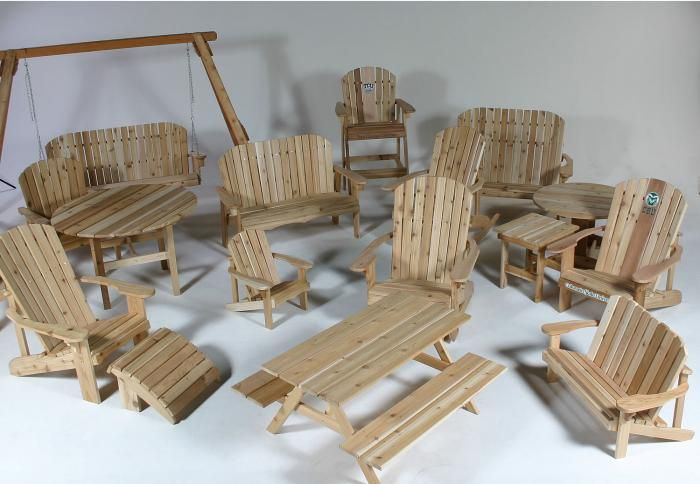 Hand Made Handmade Cedar Adirondack Furniture by The Rustic