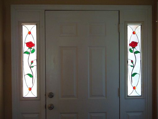 Custom Made Residential Work - Rose Sidelights