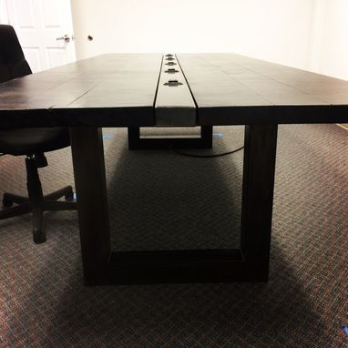 Custom Made Conference Table In Steel And Maple