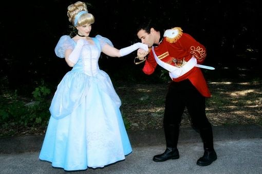 Custom Made Prince Charming And Cinderella Couples Costume Adult