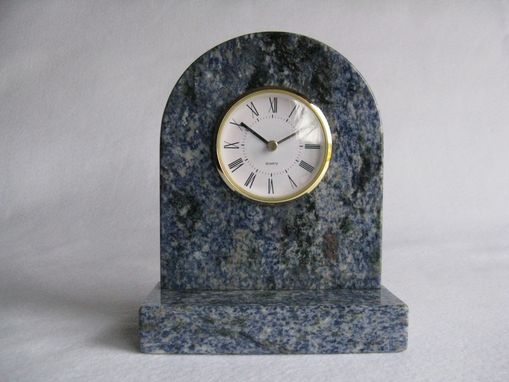 Custom Made Granite Book Case Clock