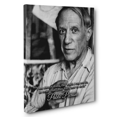 Custom Made Pablo Picasso Motivation Quote Canvas Wall Art