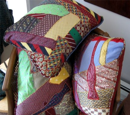 Custom Made Silk Necktie Pillows