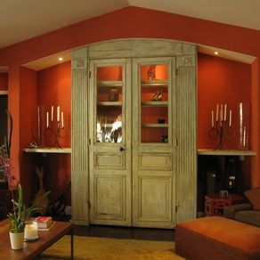 Built In Custom Cabinet With Shelves