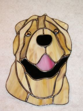 Custom Made Chinese Shar-Pei Stained Glass Sun Catcher