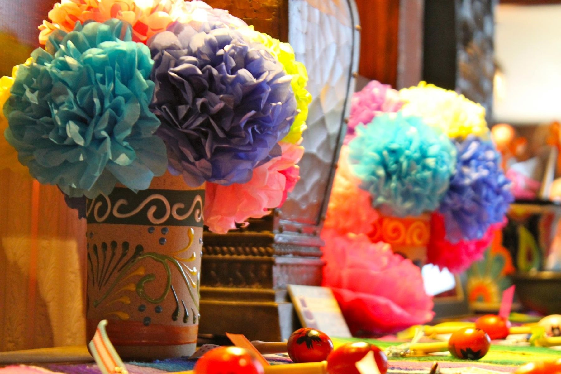 Hand Crafted Tissue Paper Flowers Birthday Parties Showers
