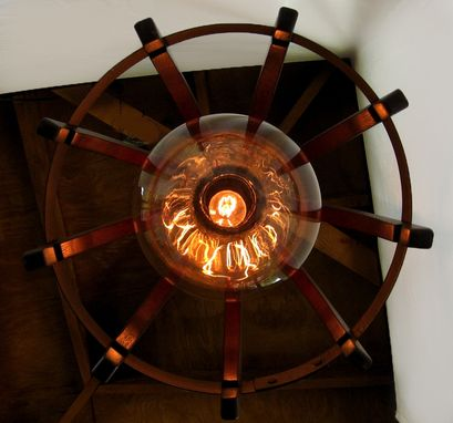 Custom Made Medusa, Recycled Wine Barrel Chandelier, Ceiling Pendant Light
