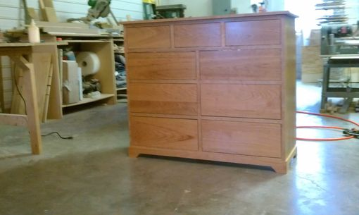 Custom Made Cherry 9 Drawer Dresser