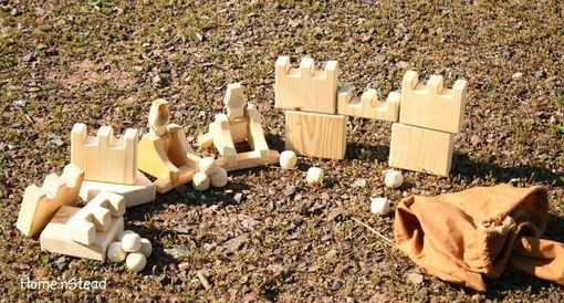 Custom Made 'Castlepults' Original Wooden Game