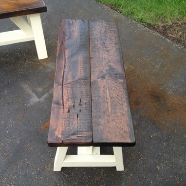 Custom Made Farm Style Bench