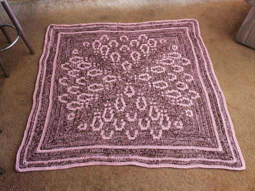Custom Made Chrysanthemum Crochet Afghan