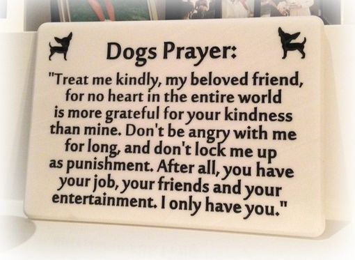 Custom Made Dog's Prayer