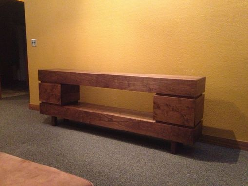 Custom Tv Console Entertainment Stand By Gypsum Valley
