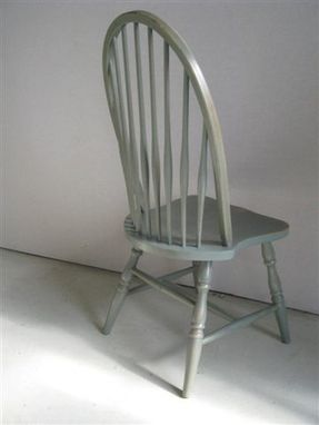 Custom Made American Winsor Dining Chair In Multi Color Fininsh