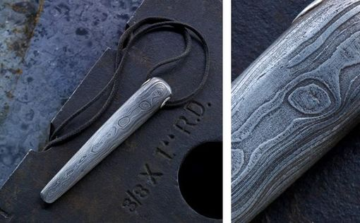 Custom Made Damascus Pendant