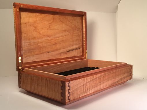 Custom Made Custom Display Box  Beautiful Double Dovetail Joinery / Carbon Fiber And Epoxy Inlay