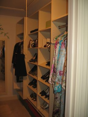 Custom Made Walk-In Closet Cabinetry