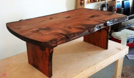 Custom Made Living Edge Beetle Killed Fir Provides A Sculptured Edge For Your Dining Table.