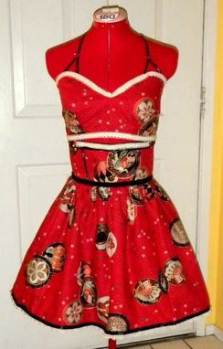 Custom Made Pinup 1940s Bombshell Two Piece -Any Size, Length Vintage Inspired Original Design