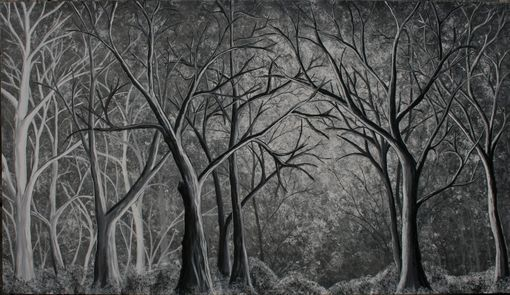 Custom Made Custom Large Black And White Forest