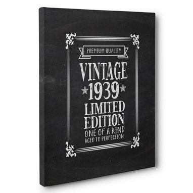 Custom Made Aged To Perfection 80 Years Old Vintage 1939 Canvas Wall Art